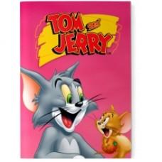 """Блокнот Cool for school, А5, 48 л., серия """"Tom and Jerry"""", термобиндер, вертикальная проклейка, розовый"""