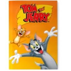 """Блокнот Cool for school, А5, 48 л., серия """"Tom and Jerry"""", термобиндер, вертикальная проклейка, оранжевый"""