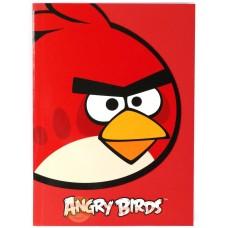 """Блокнот Cool for school, А5, 48 л., серия """"Angry Birds"""", термобиндер, вертикальная проклейка, красный"""