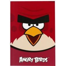 """Блокнот Cool for school, А5, 48 л., серия """"Angry Birds"""", термобиндер, вертикальная проклейка, бордовый"""