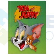 """Блокнот Cool for school, А5, 48 л., серия """"Tom and Jerry"""", термобиндер, вертикальная проклейка, зеленый"""