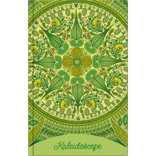 """Блокнот Optima """"Калейдоскоп"""", А6, 80 л., шитье на нитку, зеленый"""