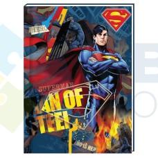 "Блокнот Cool for school, А6, 80 л., серия ""Superman"", шитье на нитку"
