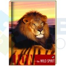 "Блокнот Cool for school ""Wild Spirit"" А6, 80 л., шитье на нитку, ""Лев"""