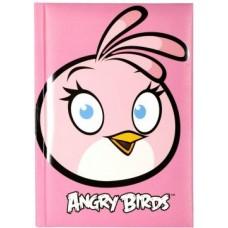 """Блокнот Cool for school, А6, 80 л., серия """"Angry Birds"""", шитье на нитку, розовый"""