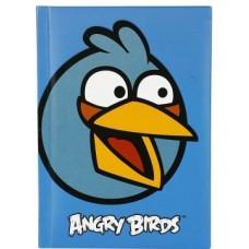 """Блокнот Cool for school, А6, 80 л., серия """"Angry Birds"""", шитье на нитку, голубой"""