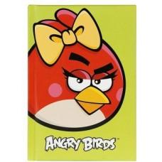 """Блокнот Cool for school, А6, 80 л., серия """"Angry Birds"""", шитье на нитку, салатовый"""