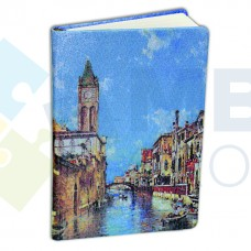 """Деловой блокнот Optima """"Венеция"""", А5, 256 л., твердая обложка"""