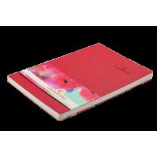 Блокнот деловой Buromax Color Tunes, А5, 96л., мягкая обложка, красный