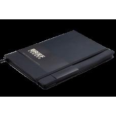 Блокнот деловой Buromax Brief Logo2u, А5, 96л., мягкая обложка, черный