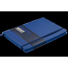 Блокнот деловой Buromax Brief Logo2u, А5, 96л., мягкая обложка, синий