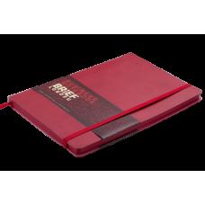 Блокнот деловой Buromax Brief Logo2u, А5, 96л., мягкая обложка, красный