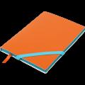 Блокнот деловой Buromax Lollipop, А5, 96л., мягкая обложка, оранжевый