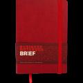 Блокнот деловой Buromax Brief, А5, 96л., мягкая обложка, красный