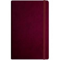 Деловой блокнот Optima Vivella, А5, 256 л., мягкая обложка, на резинке, бордо