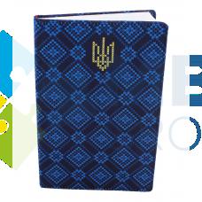 """Деловой блокнот Optima """"Вышиванка герб"""", А5, 256 л., твердая обложка"""