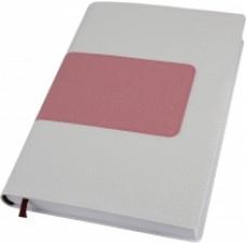 Деловой блокнот Optima ARMONIA, А5, 256 л., мягкая обложка, белый с розовым