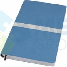 Деловой блокнот Optima ARMONIA, А5, 256 л., мягкая обложка, голубой с белым