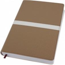 Деловой блокнот Optima ARMONIA, А5, 256 л., мягкая обложка, золотой с белым