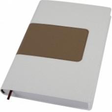 Деловой блокнот Optima ARMONIA, А5, 256 л., мягкая обложка, белый с золотом
