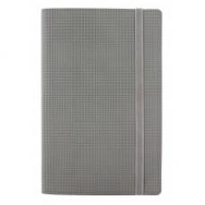 Деловой блокнот Optima GLEN, А5, 256 л., мягкая обложка, на резинке, светло-серый