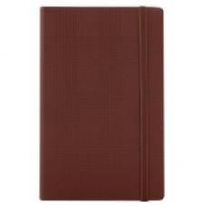 Деловой блокнот Optima GLEN, А5, 256 л., мягкая обложка, на резинке, коричневый