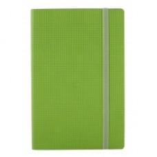 Деловой блокнот Optima GLEN, А5, 256 л., мягкая обложка, на резинке, салатовый