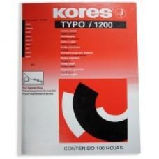 Бумага копировальная Kores, А4, 100 л., черная