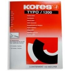Бумага копировальная Kores, А4, 10 л., черная