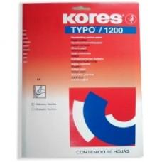 Бумага копировальная Kores, А4, 10 л., синяя