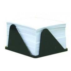 Бумага для заметок 90х90 мм. Economix, 500 л., в клетку, в черном пластиковом боксе, непроклеенная, белая