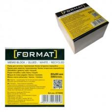 Бумага для заметок 80х80 мм Format, 500 л., проклеенная, белая