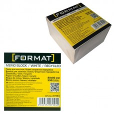 Бумага для заметок 80х80 мм Format, 500 л., непроклеенная, белая