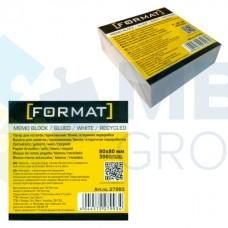 Бумага для заметок 80х80 мм Format, 300 л., непроклеенная, белая