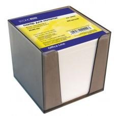 Бумага для заметок 85х85 мм. Economix, 800 л., в пластиковом боксе, непроклеенная, белая