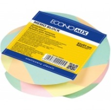 "Бумага для заметок 85х85 мм. Economix ""Зебра"", 400 л., в спирале, проклеенная, цветная"