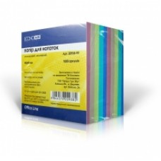 Бумага для заметок 90х90 мм. Economix, 1000 л., непроклеенная, цветная