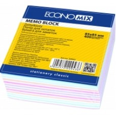 "Бумага для заметок 85х85 мм. Economix ""Зебра"", 400 л., проклеенная, цветная"