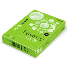 Бумага офисная цветная Niveus, А4, 80г/м2, неоновая зеленая, NEOGN, 500л