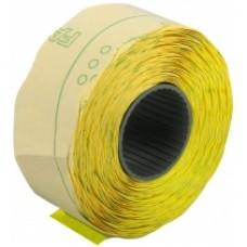 Этикетки-ценники Economix, 22х12 мм, 1000 шт/рул., фигурные, желтые