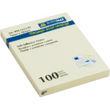 Блок для заметок с клейким слоем Buromax, 76х102мм, 100 л., желтый