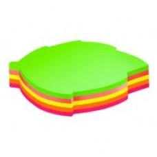 """Блок для заметок с клейким слоем Economix """"Листок"""" 45х50 мм, 80 л., неон микс"""