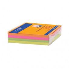 Блок для заметок с клейким слоем Economix, 75х75 мм, 100 л., неон микс