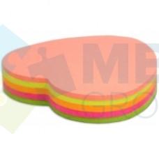 "Блок для заметок с клейким слоем Economix ""Сердце"" 45х50 мм, 80 л., неон микс"