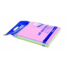 Блок для заметок с клейким слоем Economix, 75х75 мм, 100 л., пастель микс