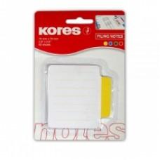 Закладки с клейким слоем Kores, 70х70 мм, 50 шт., бумажные, 4 неоновых цвета