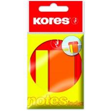 Закладки с клейким слоем Kores, 45х2 и 45х25 мм, 25 шт., пластиковые, 2 цвета на пластиковой скрепке