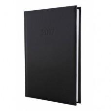 Ежедневник недатированный Economix ALLEGRA, А5, 320 л., искусственная кожа, черный