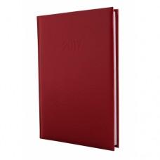 Ежедневник недатированный Economix ALLEGRA, А5, 320 л., искусственная кожа, бордовый