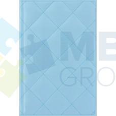 """Ежедневник недатированный Cabinet """"Square"""", А5, 320 л., искусственная кожа, с металлической закладкой и карманом, голубой"""